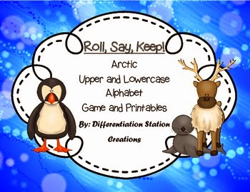http://www.teacherspayteachers.com/Product/Arctic-Animals-Roll-Say-Keep-Alphabet-Center-and-Printables-1024440