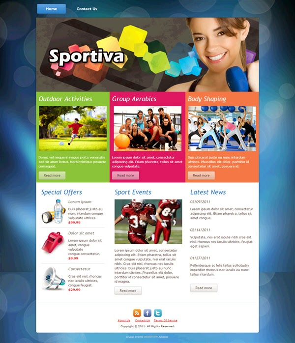 Sportiva - Free Drupal Theme