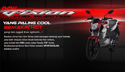 harga dan spesifikasi yamaha new vixion baru 2013