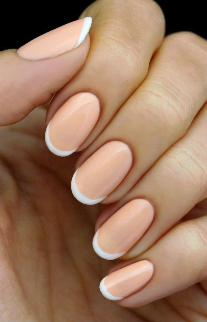 Peach and White French Nail Tutorial