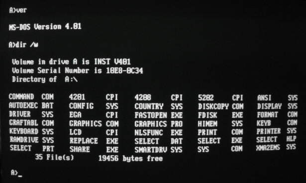 Microsoft mengeluarkan MS-DOS 4.0, dengan menambahkan menu antarmuka ...