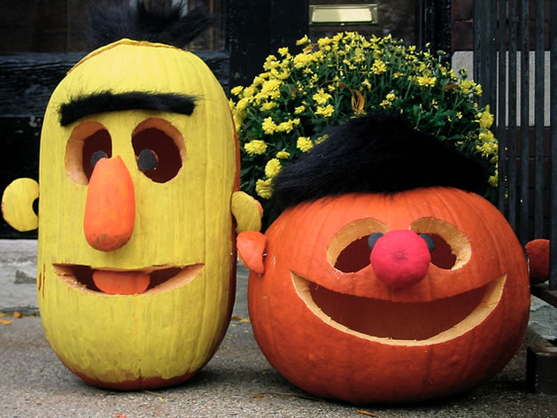 Bert and Ernie Pumpkin