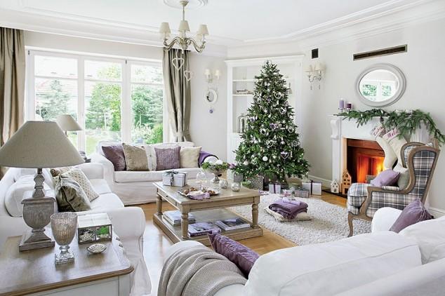 Arbol de navidad clasico decorar tu casa es for Decoracion casa chic