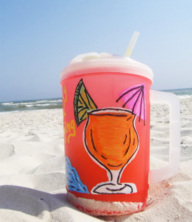 beach party cup
