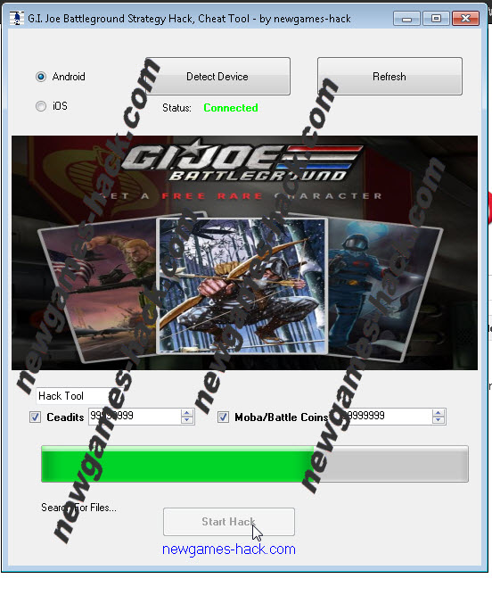 you unlimited mobacoin and credits for play g i joe battleground