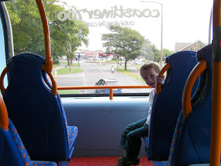top deck of the double-decker bus, 700 portsmouth to brighton