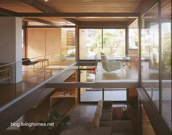 Ambientes interiores de una casa modular contemporánea