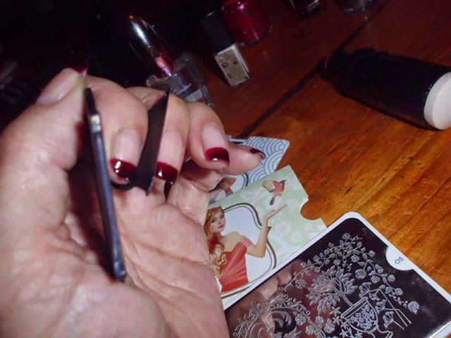 rasquetas para manicuras estampadas