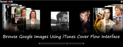 Browse Google Face Search Images Using iTunes Cover Flow Interface
