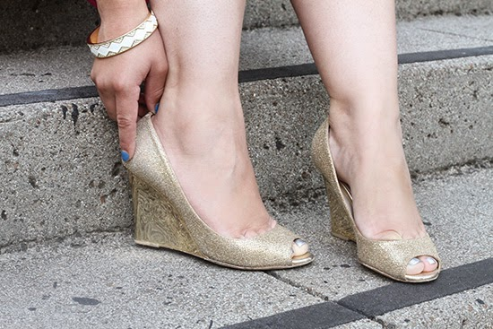 Jimmy Choo Gold Bello Wedges