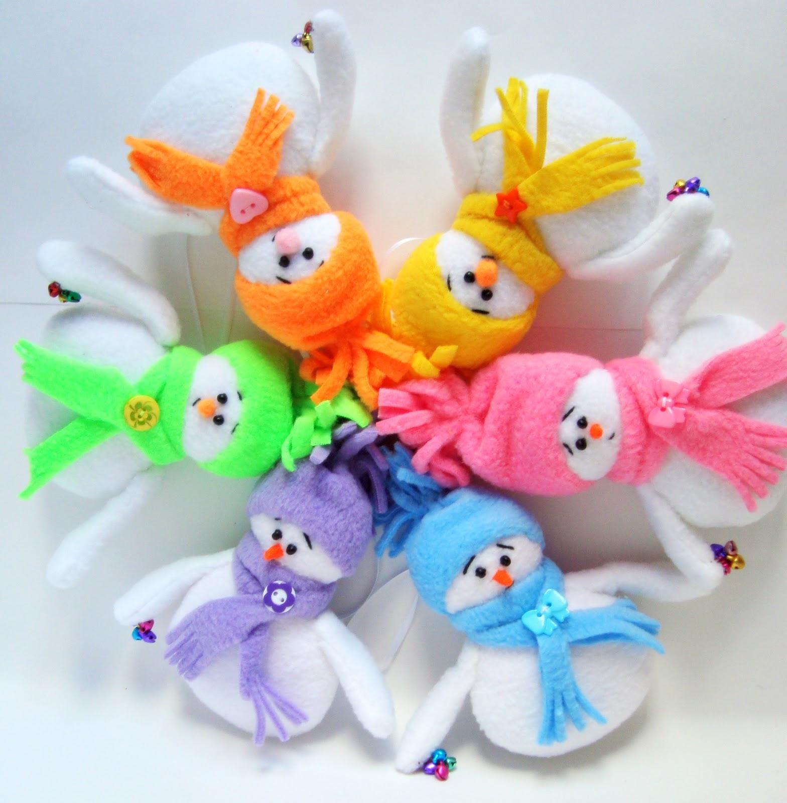 Елочные игрушки из флиса своими руками