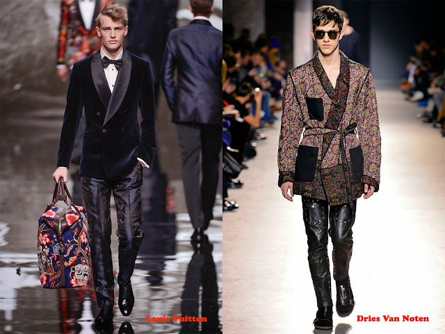 Tendencia otoño_invierno 2013-14 look pijama: Louis Vuitton y Dries Van Noten