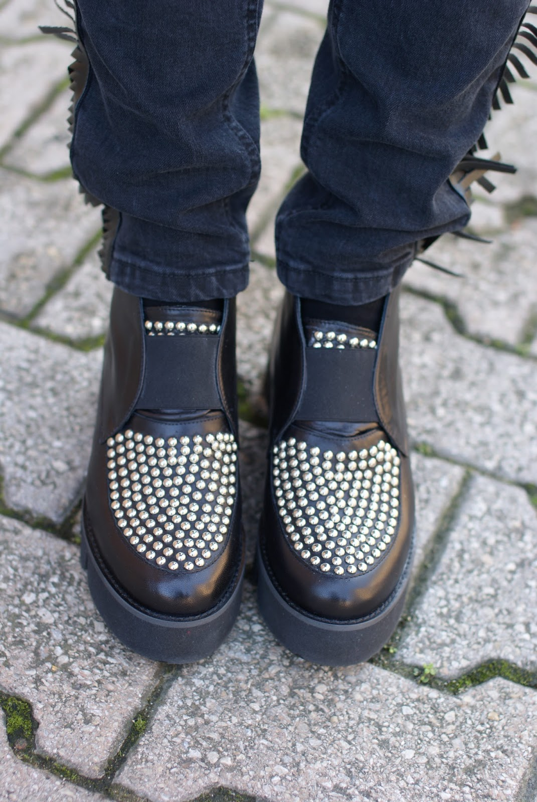 B&H shoes scarpe con borchie su Fashion and Cookies fashion blog, fashion blogger style