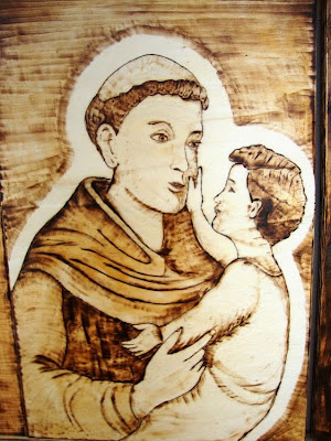 Pirogravura de Santo António