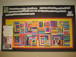 Our finished Gees Bend Quilt