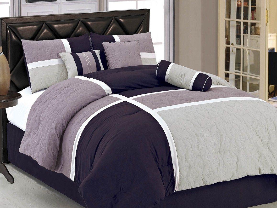 Plum And Grey Bedroom Total Fab Purple Black And White Bedding Sets Drama Uplifted