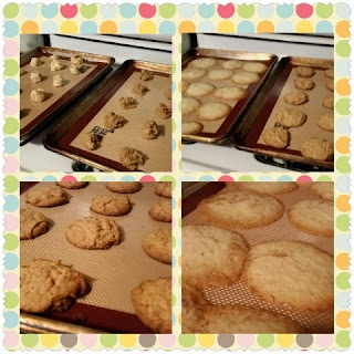 Culinary Couture Non-Stick Silicone Baking Mat Set with cookies