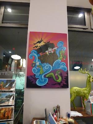 """Carl Kenz, Ausstellung """"Isar"""" Münchner Streetart, München"""