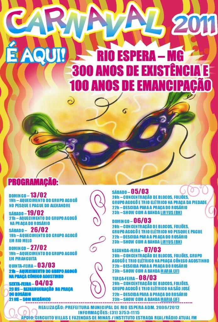 carnaval 2011 rio. Carnaval 2011 - Rio Espera -