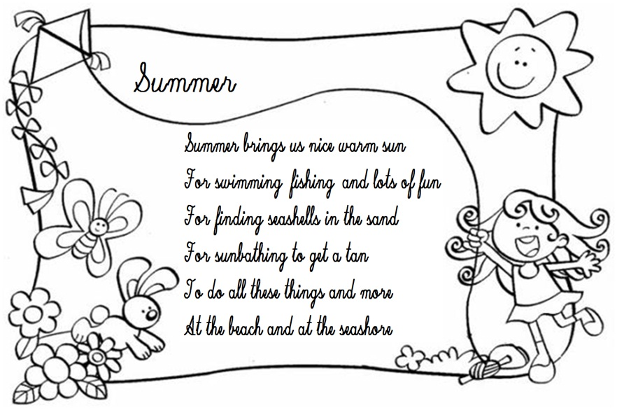 The last 2 weeks are Final Rhyming Poems About Summer