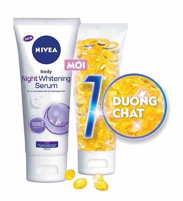 Serum Nivea dưỡng trắng da ban đêm hình