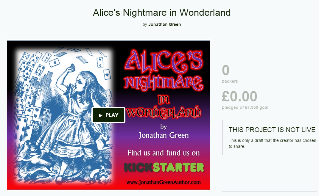 Jonathan Green Author 3 Days Left Until The Alices Nightmare In