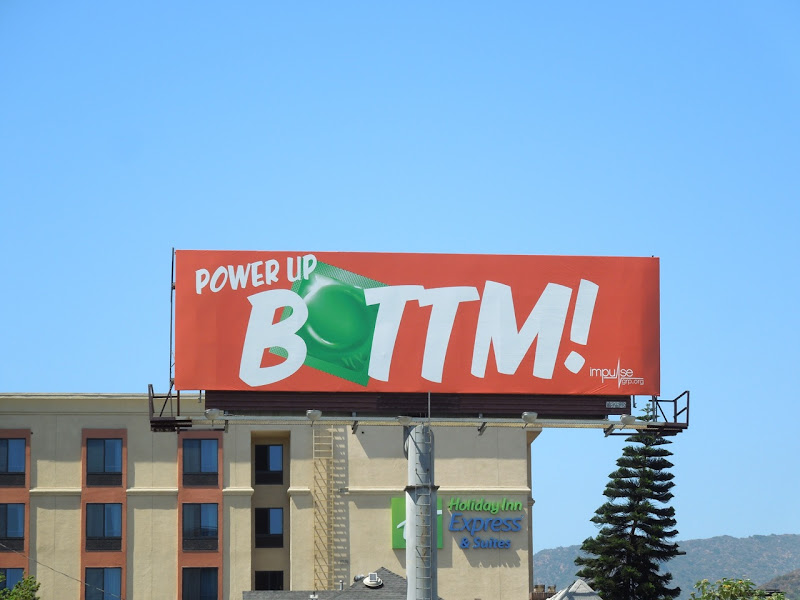 Power Up Bottom condom billboard