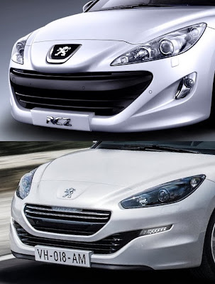 Peugeot RCZ - przed i po liftingu