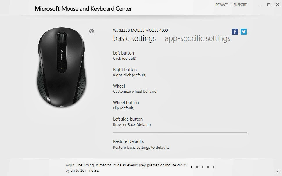 how to open microsoft mouse and keyboard center