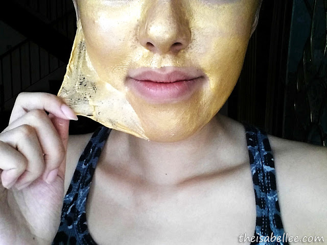 Peeling off Piolang 24K Gold Wrapping Mask
