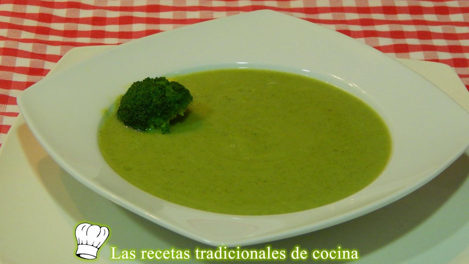 Crema de brócoli ligera