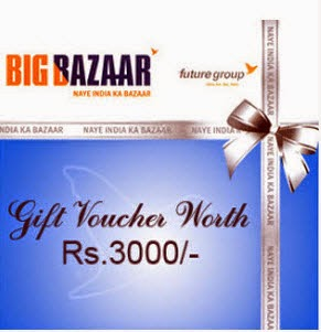 Amazon : Buy Big Bazaar Rs.1000 Gift Voucher at Rs.950, Rs. 4000 Gift Voucher at Rs. 3800 only