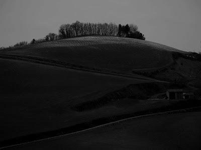 Rocca San Casciano: strada per il Poggiolo in inverno