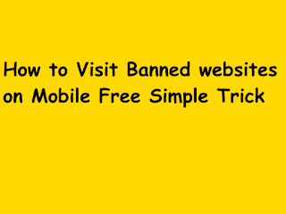 View baned website on mobile