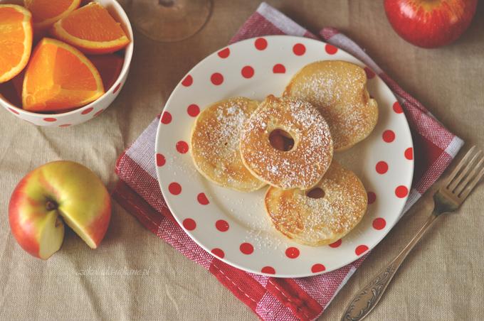 placuszki, plasterki, jabłka, jabłek, w cieście