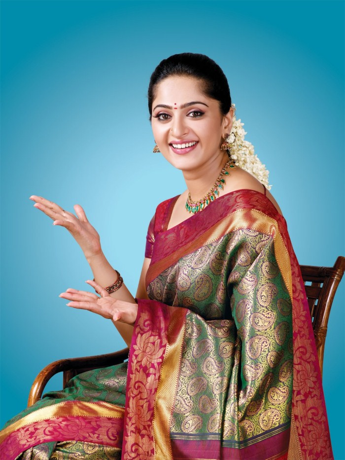 Tollywood actresses anushka latest saree photos all for Traditional photos