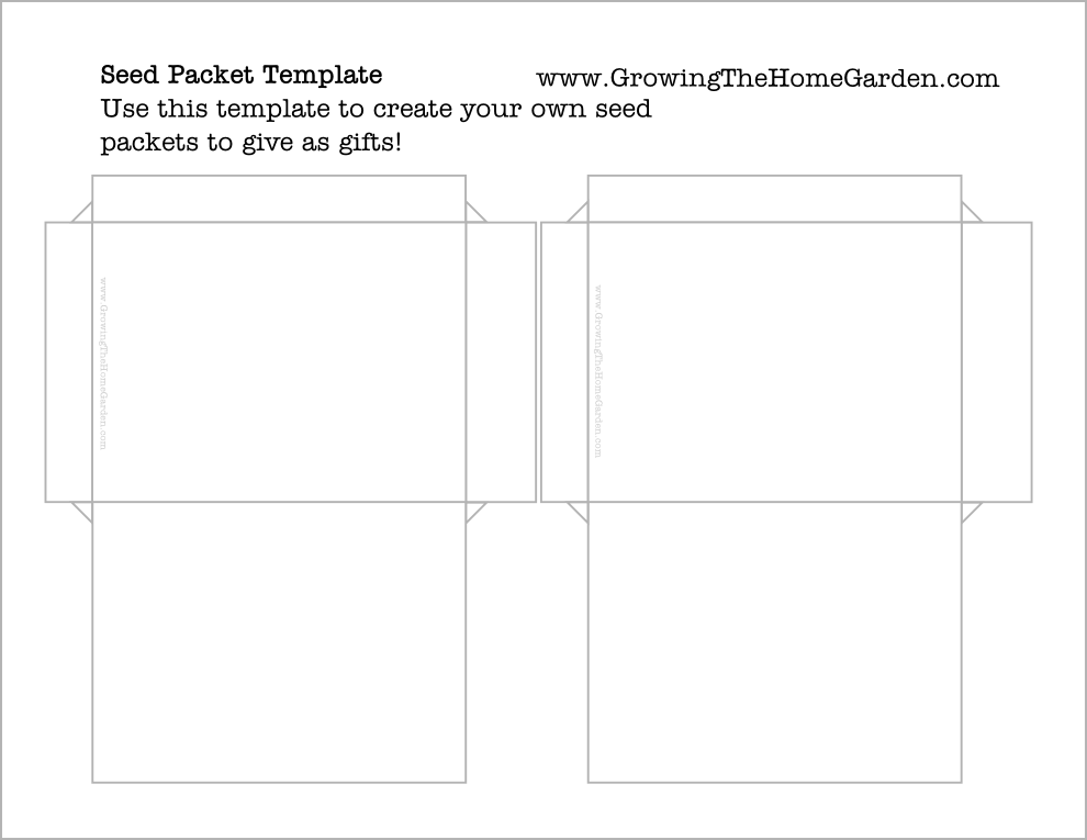 template for making your own seed packets (DIY)