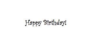 Как сделать надпись happy birthday