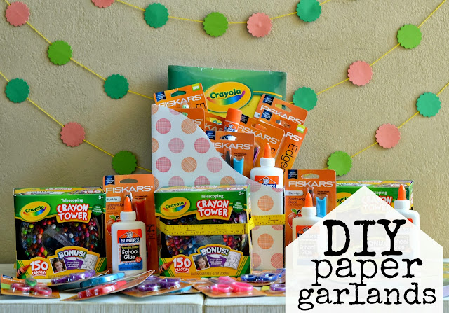 Easy DIY Paper Garlands and a #Fiskars4Kids Fiskars Shape their future donation, champions for kids