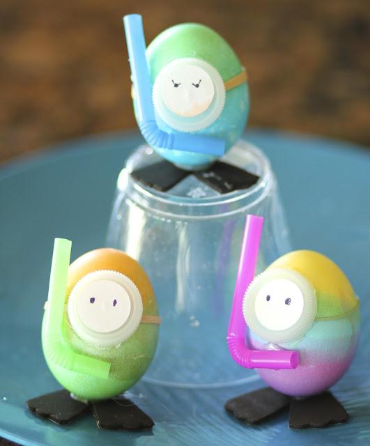 dye-ving easter eggs