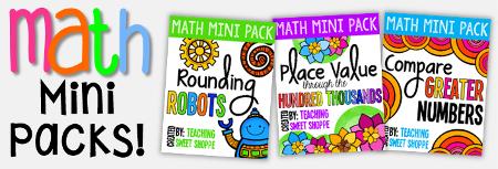 Math Mini Packs
