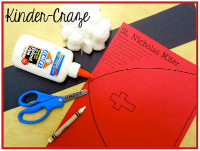 FREE craftivity to create a Miter hat like St. Nicholas had -super simple!