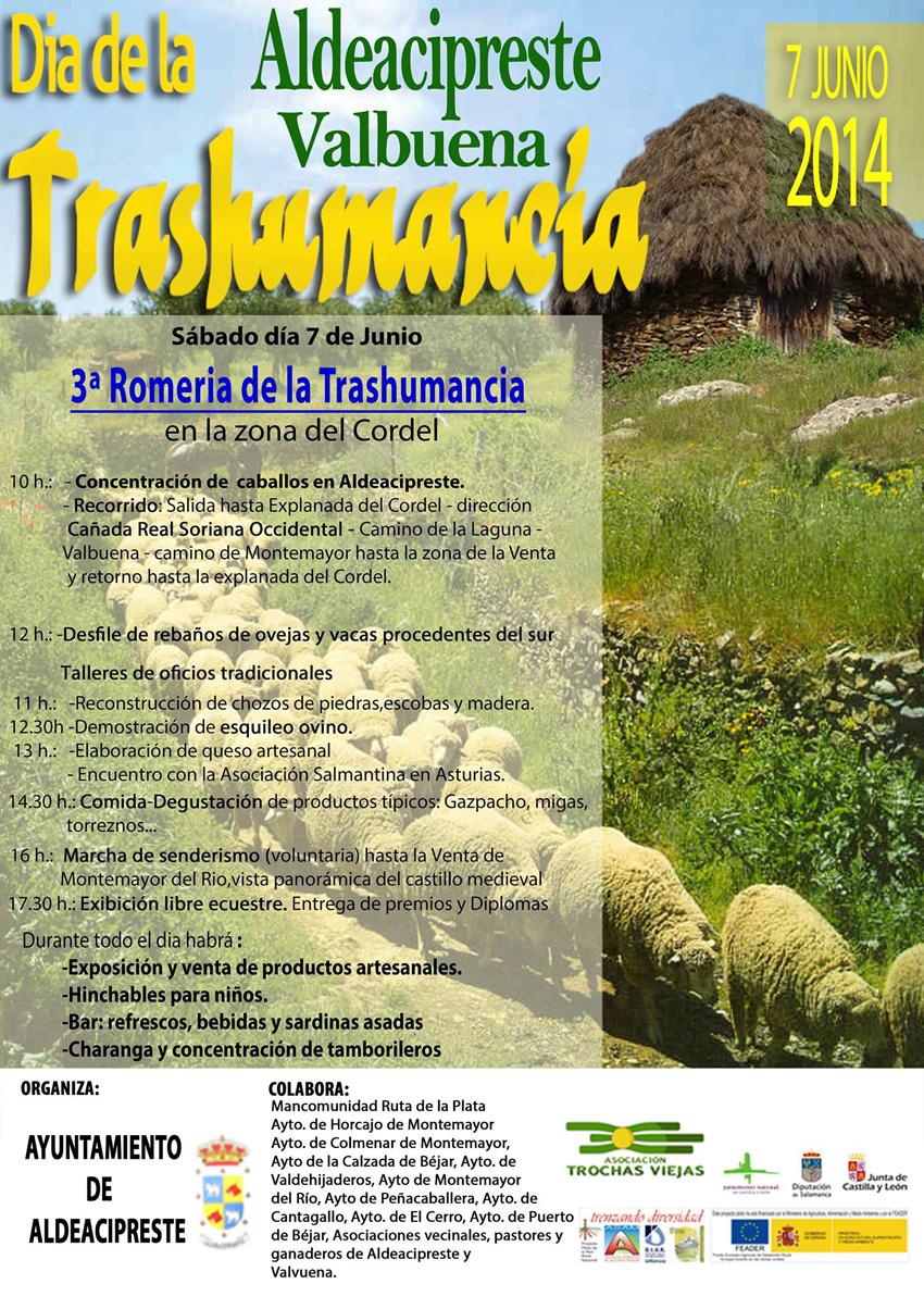 cartel anunciador de la actividad con el programa de actos detallados