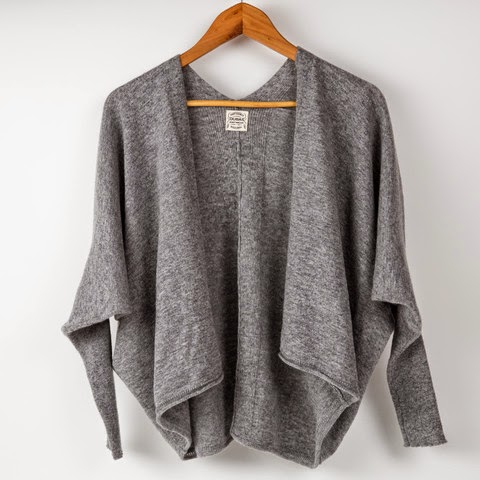 Ma Bicyclette - Buy Handmade - Clothing For Women - OUBAS - Slouchy Casual Batwing Steel Grey Cardigan.