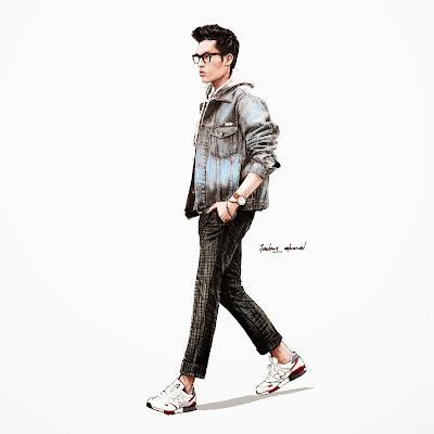10 Ilustrasi Fesyen Lelaki Yang Stylo Habis Dari Firdaus Ahmed
