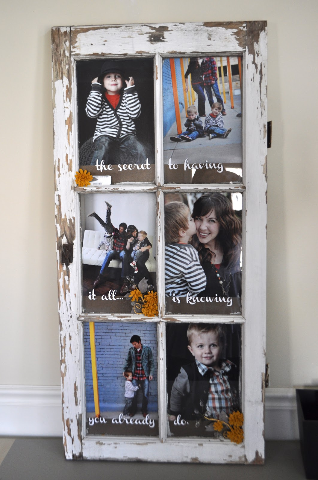I am momma hear me roar old window turned picture frame for Old picture frame projects
