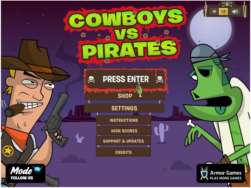 Armor Game : Cowboys Vs Pirates