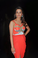 Surveen Chawla in Lovely Orange Sleeveless Gown with Deep Neck Must see