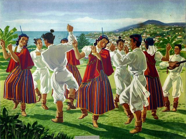 Bailinho da Madeira - Ilustração de Mário Costa (1902-1975)