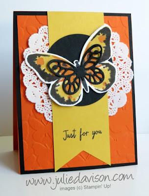 Stampin' Up! Watercolor Wings Card #stampinup www.juliedavison.com